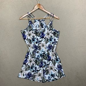 Flowered Patterned Dynamite One Piece - XS